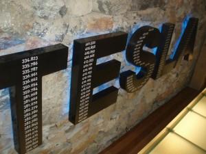 natpis Tesla s njegovim brojevima patenata